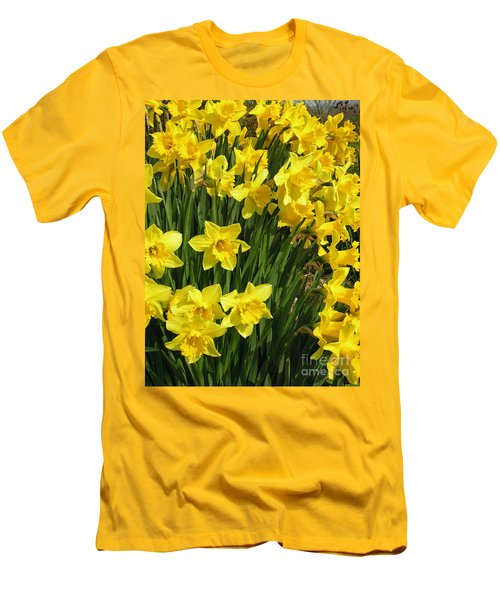 Golden Daffodils Men's T-Shirt (Slim Fit) by Phil Banks