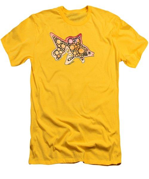 Goldfish Men's T-Shirt (Slim Fit) by Petra Stephens