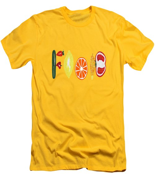 Good Eats Men's T-Shirt (Slim Fit) by Kathleen Sartoris