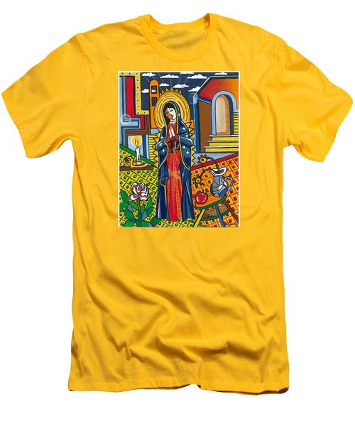 Guadalupe Visits Picasso Men's T-Shirt (Slim Fit) by James Roderick