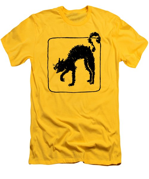 Halloween Cat Men's T-Shirt (Athletic Fit)