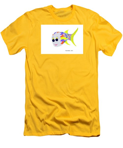 Happy Fish Touring Men's T-Shirt (Slim Fit) by Fred Jinkins