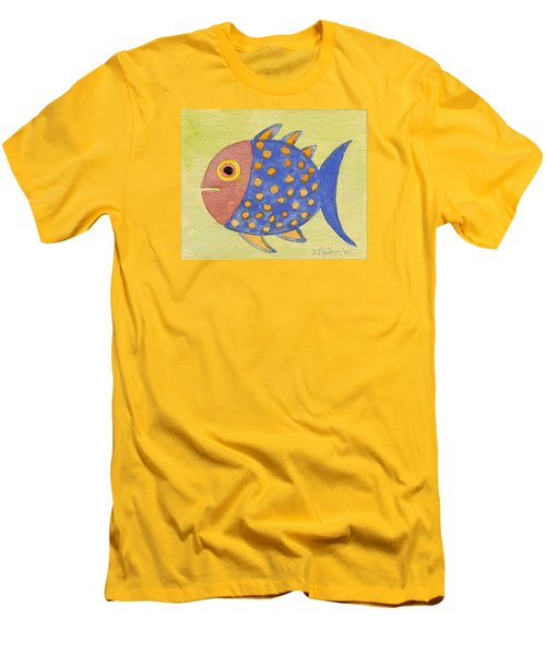 Happy Speckled Fish Men's T-Shirt (Slim Fit) by Fred Jinkins