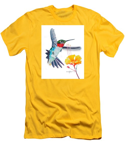 Da169 Hummingbird Flittering Daniel Adams Men's T-Shirt (Athletic Fit)