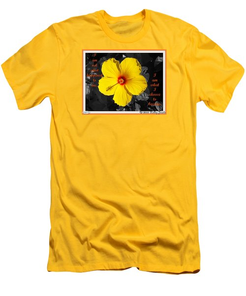 Men's T-Shirt (Slim Fit) featuring the digital art I Choose To Become by Holley Jacobs