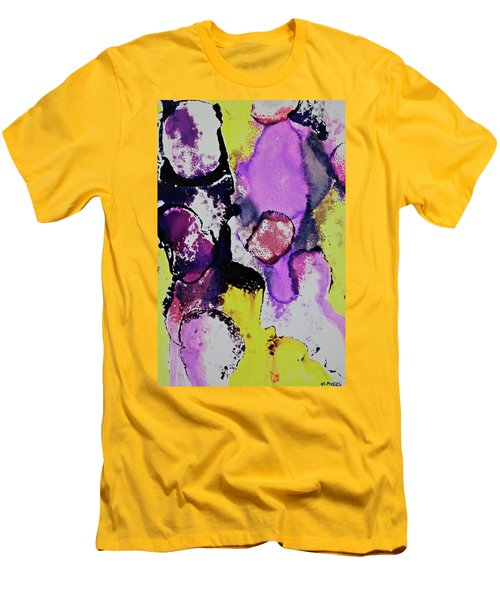 Men's T-Shirt (Athletic Fit) featuring the painting In The Crowd by Michele Myers