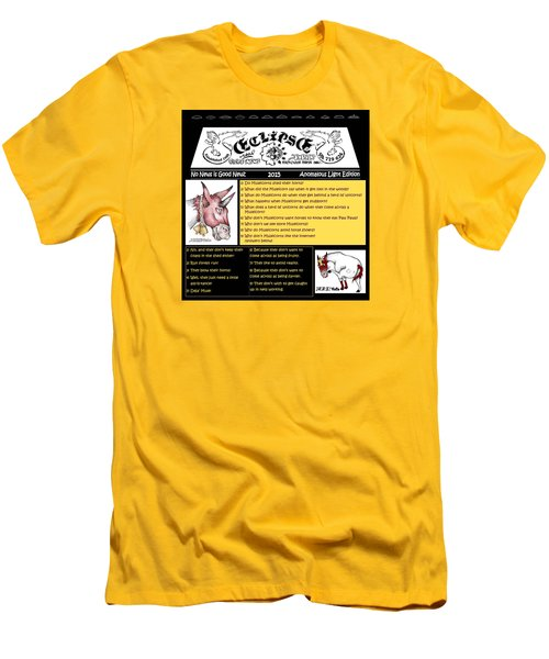 Real Fake News Muleicorn Jokes Men's T-Shirt (Slim Fit) by Dawn Sperry