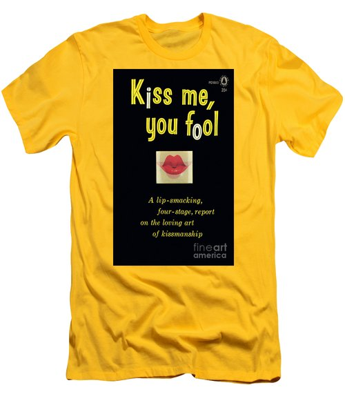 Men's T-Shirt (Slim Fit) featuring the painting Kiss Me, You Fool by Unknown Artist