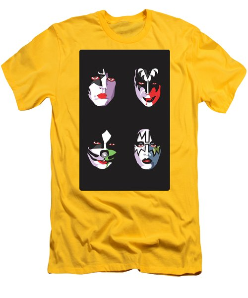 Kiss Men's T-Shirt (Slim Fit) by Troy Arthur Graphics