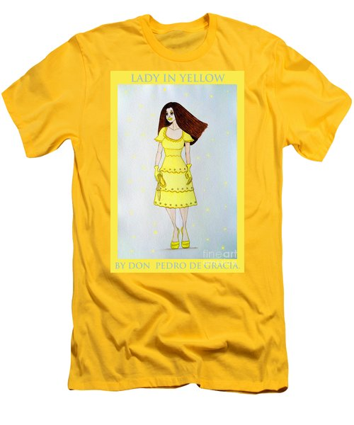 Lady In Yellow Men's T-Shirt (Athletic Fit)