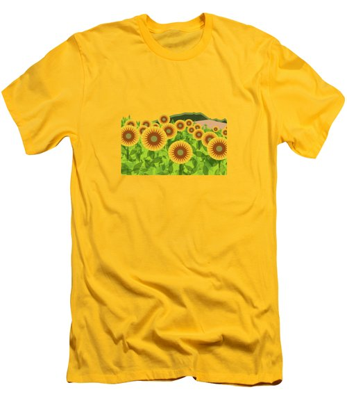 Land Of Sunflowers. Men's T-Shirt (Slim Fit) by Absentis Designs