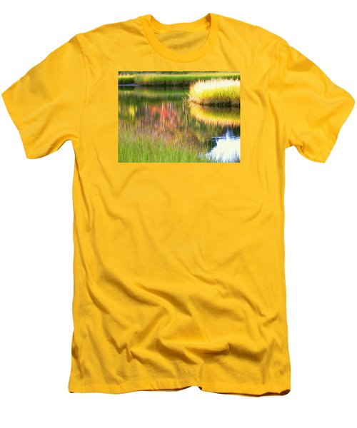 Stillness Of Late Summer Marsh  Men's T-Shirt (Athletic Fit)
