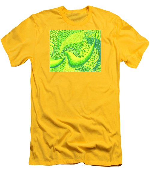 Men's T-Shirt (Slim Fit) featuring the drawing Lemon Lime by Kim Sy Ok