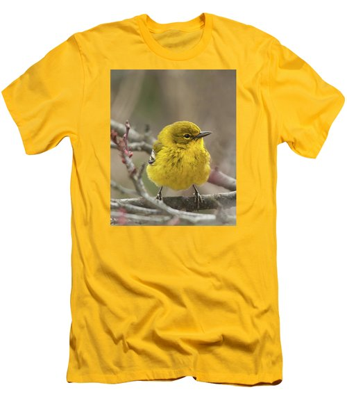 Men's T-Shirt (Slim Fit) featuring the photograph Little Yellow by Lara Ellis