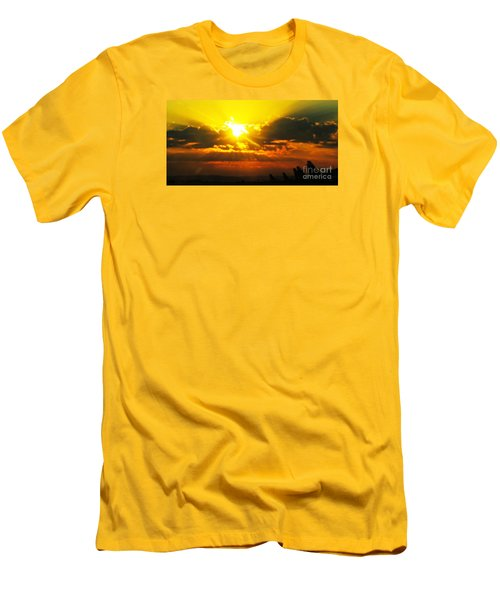 Men's T-Shirt (Slim Fit) featuring the photograph Mahlon Sweet Sunset by Mindy Bench