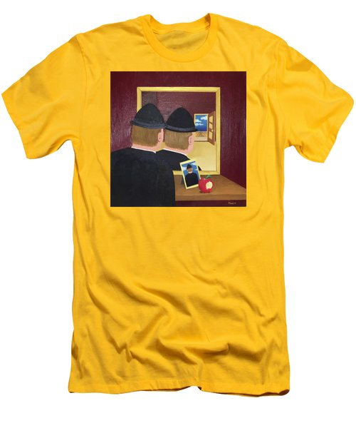 Man In The Mirror Men's T-Shirt (Slim Fit) by Thomas Blood