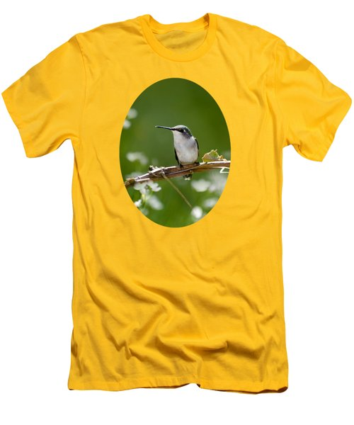 Meadow Hummingbird Men's T-Shirt (Slim Fit) by Christina Rollo