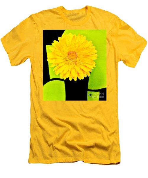 Men's T-Shirt (Slim Fit) featuring the photograph Modern Gerber by Marsha Heiken