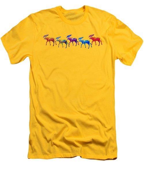 Moose Mystique Apparel Design Men's T-Shirt (Slim Fit) by Teresa Ascone