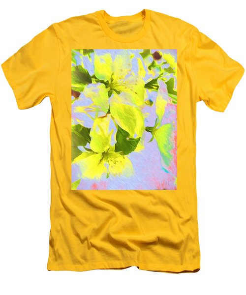 Men's T-Shirt (Slim Fit) featuring the photograph Morning Floral by Kathy Bassett