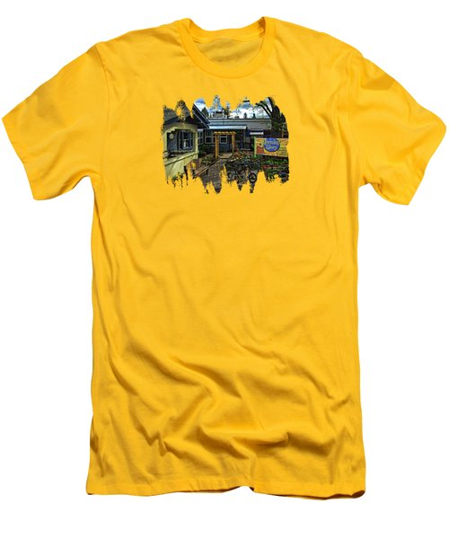 Men's T-Shirt (Slim Fit) featuring the photograph Morning Glory Cafe Ashland by Thom Zehrfeld