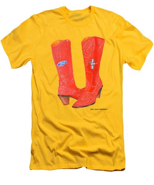 Mustang Sally Kick Ass Boots Men's T-Shirt (Slim Fit) by Jack Pumphrey
