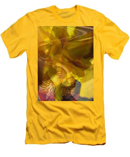 My Wild Iris Abstract - Photography  Men's T-Shirt (Athletic Fit)