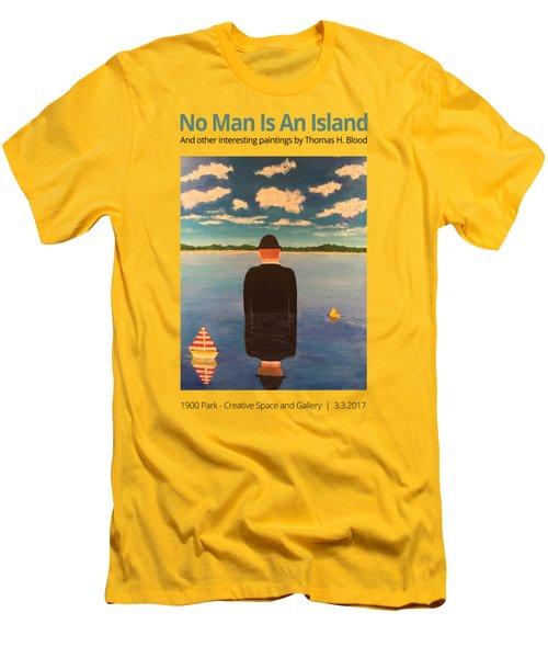 No Man Is An Island T-shirt Men's T-Shirt (Slim Fit) by Thomas Blood