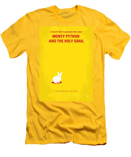 No036 My Monty Python And The Holy Grail Minimal Movie Poster Men's T-Shirt (Slim Fit) by Chungkong Art