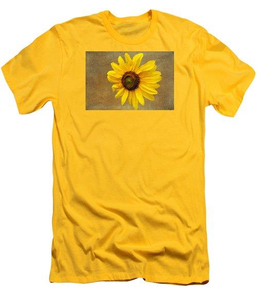 Men's T-Shirt (Slim Fit) featuring the photograph Oak Street Sunflower by Tom Singleton
