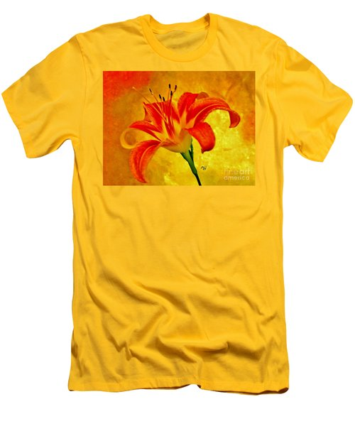 Men's T-Shirt (Slim Fit) featuring the photograph One Tigerlily by Marsha Heiken