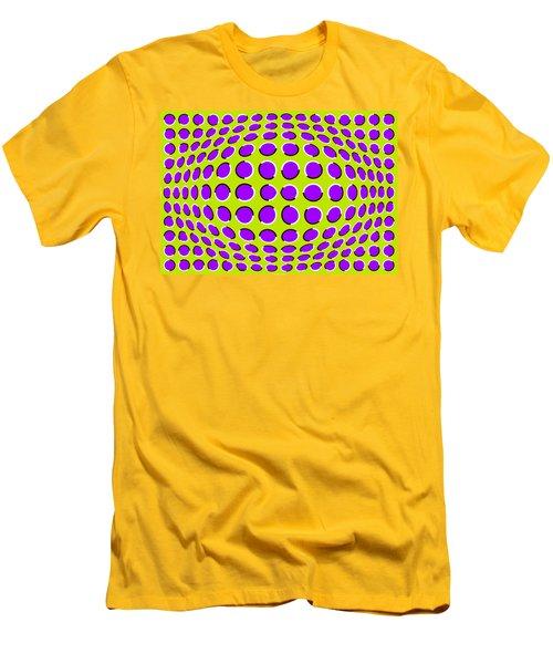 Optical Illusion The Ball Men's T-Shirt (Slim Fit) by Sumit Mehndiratta