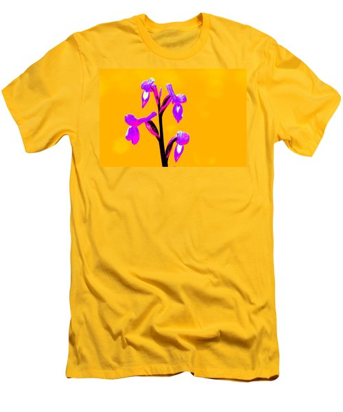Orange Champagne Orchid Men's T-Shirt (Athletic Fit)