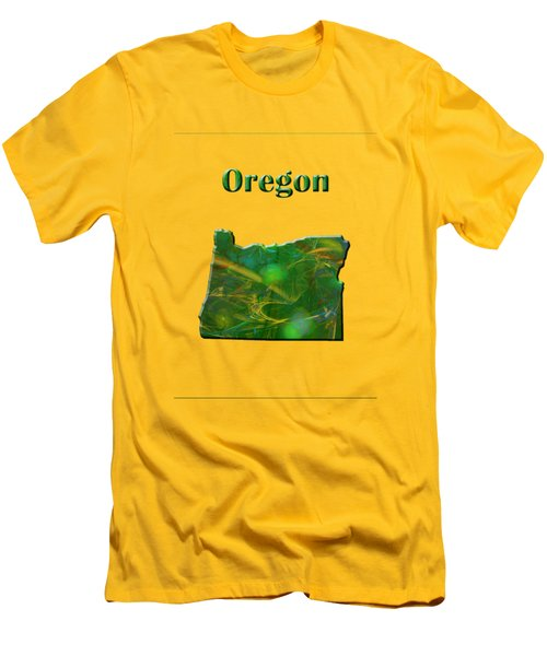 Oregon Map Men's T-Shirt (Athletic Fit)