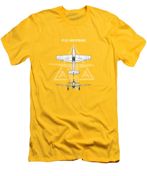 P-51 Mustang Men's T-Shirt (Slim Fit) by Mark Rogan