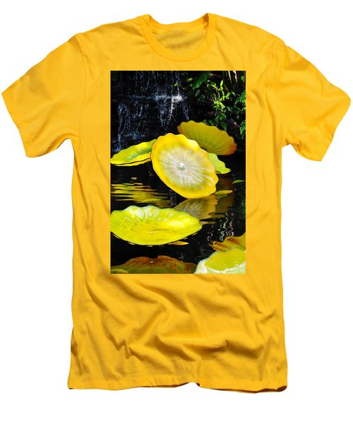 Persian Lily Pads Men's T-Shirt (Slim Fit) by Kyle Hanson