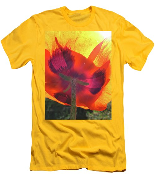 Poppies Gone Wild 3 - Poppy Glow Men's T-Shirt (Athletic Fit)