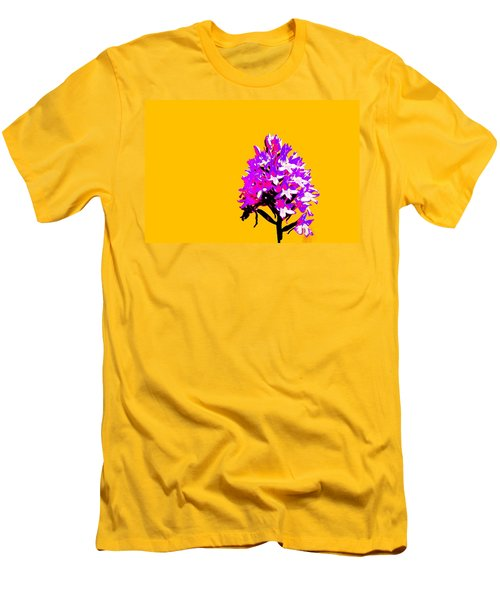 Orange Pyramid Orchid  Men's T-Shirt (Athletic Fit)