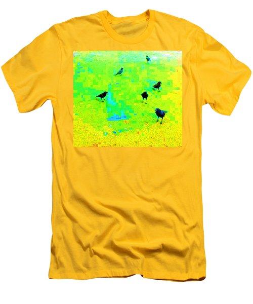 Ravens At Dick's Drive-in Men's T-Shirt (Slim Fit) by Karl Reid