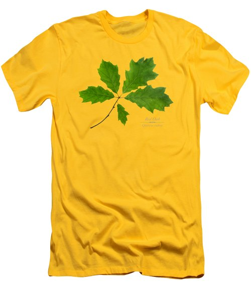 Men's T-Shirt (Slim Fit) featuring the photograph Red Oak by Christina Rollo