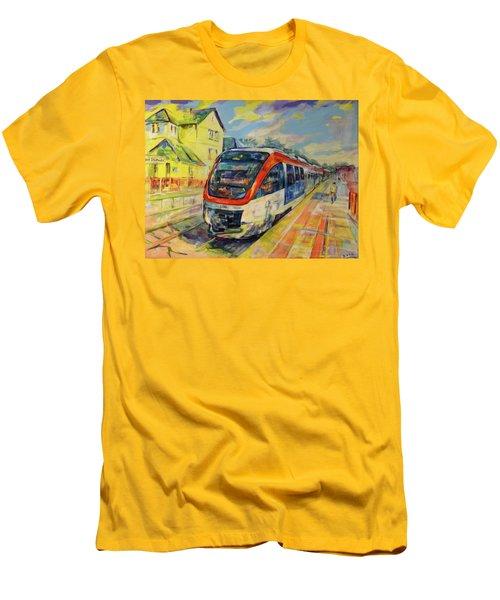 Regiobahn Mettmann Men's T-Shirt (Slim Fit) by Koro Arandia