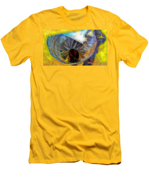 Men's T-Shirt (Slim Fit) featuring the digital art Shallow Well by Ron Bissett
