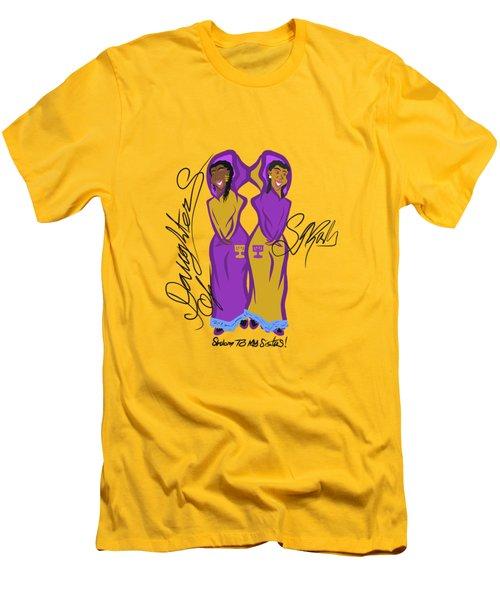 Shalom Sistas Men's T-Shirt (Athletic Fit)