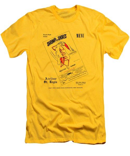 Shrimp In Shorts 1950s Men's T-Shirt (Athletic Fit)