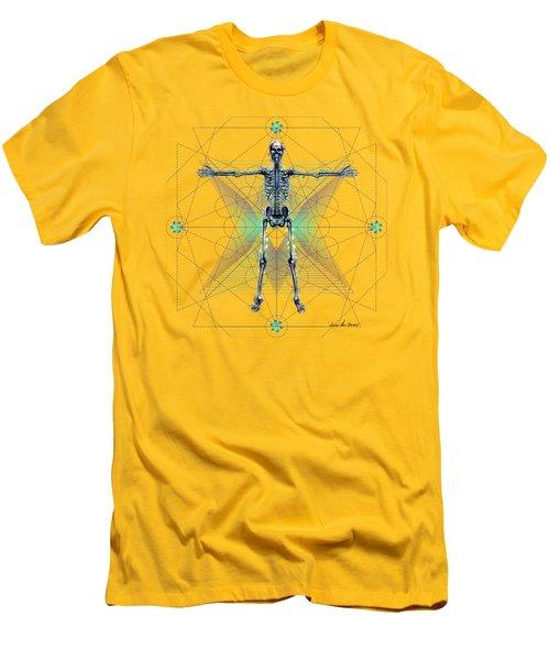 Men's T-Shirt (Slim Fit) featuring the digital art Skeletal System by Iowan Stone-Flowers