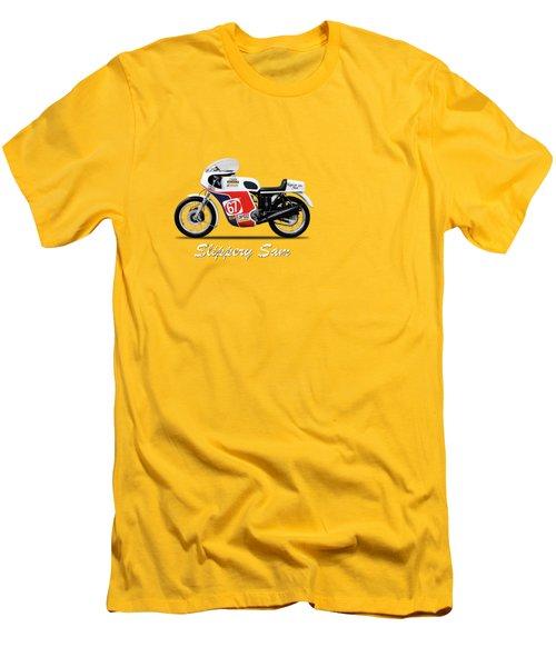 Slippery Sam Production Racer Men's T-Shirt (Slim Fit) by Mark Rogan