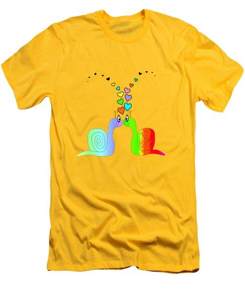 Snail Love - Romance Men's T-Shirt (Athletic Fit)