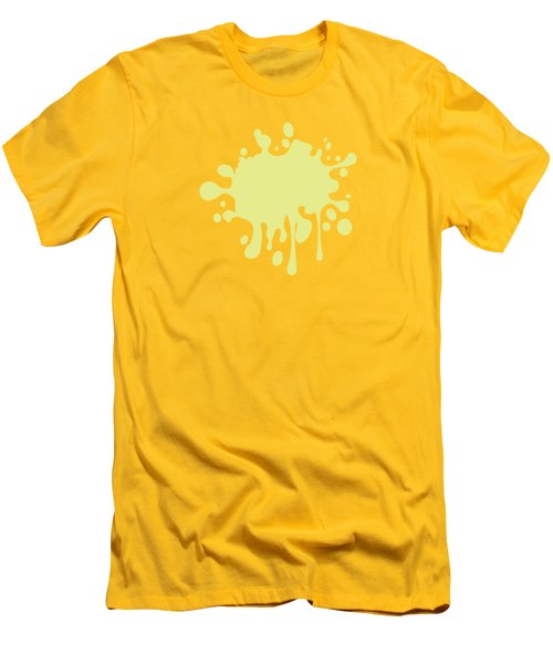 Solid Yellow Pastel Color Men's T-Shirt (Athletic Fit)