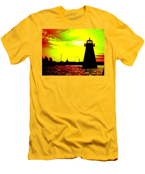 Southcoast Silhouette  Men's T-Shirt (Slim Fit) by Kate Arsenault