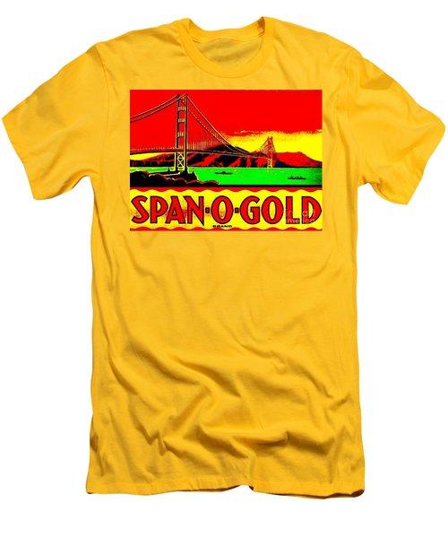 Span O Gold Golden Gate Bridge Men's T-Shirt (Slim Fit) by Peter Gumaer Ogden